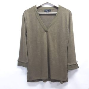 Sanctuary Olive green V-neck 3/4 sleeve top
